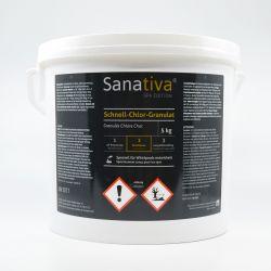 Sanativa SPA Edition Schnell-Chlor Granulat in 5 Kg Eimer unsere Verkaufsempfehlung