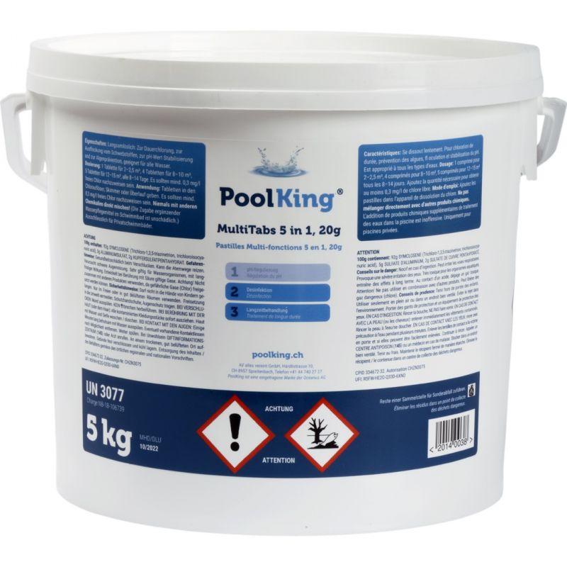PoolKing MultiTabs 5 in 1, 20g Tabs 5kg_16444