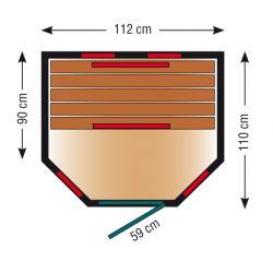 Infrarotkabine ThermoSpa IS 110U_3133