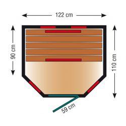Infrarotkabine ThermoSpa IS 120U_3135