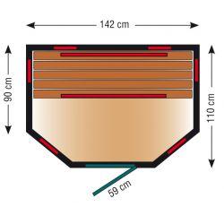 Infrarotkabine ThermoSpa IS 140U_3137