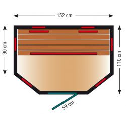 Infrarotkabine ThermoSpa ID 150 U_3139