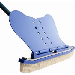 Wandbeckenbürste blau mit Flügel 46cm breit_35165
