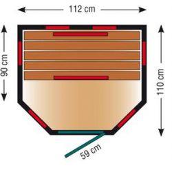 Infrarotkabine ThermoSpa ID 110 U_46999
