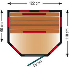 Infrarotkabine ThermoSpa ID 120 U_47001