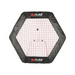 Pure2Improve Fussball-rebounder Sechseck 140 cm x 125 cm_47505