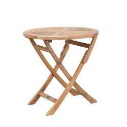 Folding Teak Table 65 cm rund_47700