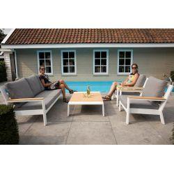 Valerie Lounge Komplett Set Weiss_48040