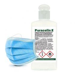 Gesichtsmaske FFP1 und Desinfektionsmittel Kombi_49504