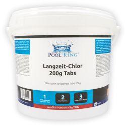 Chlor Tabs Langzeit 200g in 5 Kg Eimer_4957