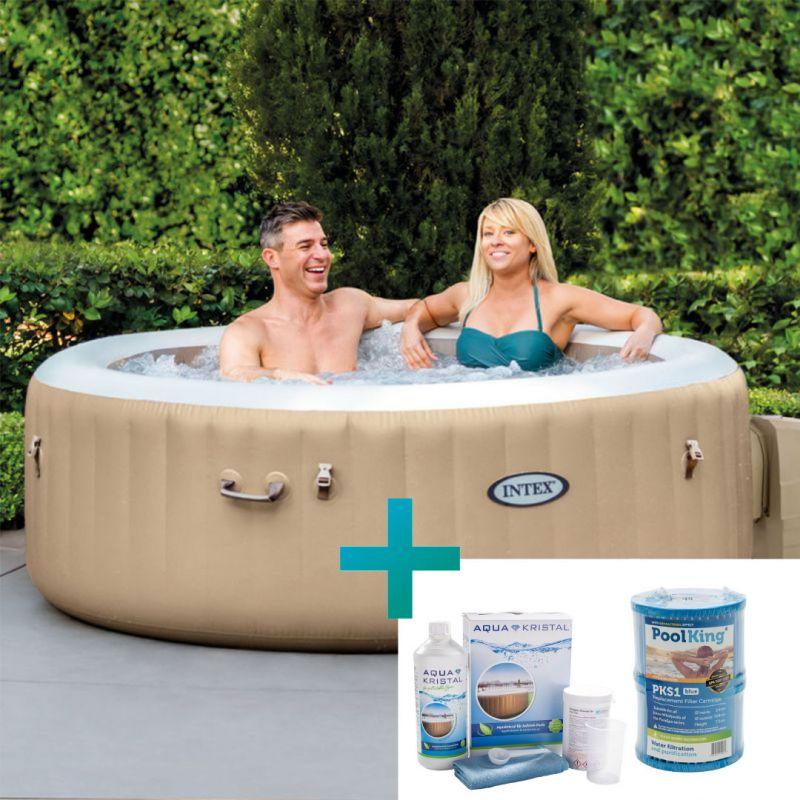 Intex Whirlpool PureSpa Bubble Massage Ø 196 cm, (4 Personen)_61619