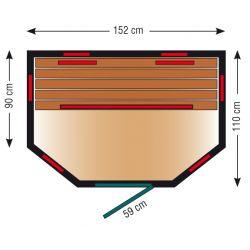 Infrarotkabine ThermoSpa IS 150U_8190