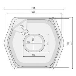 Whirlpool Oceanus Classic 186 x 213 cm_8333