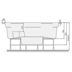 CLASSIC 186 x 213cm mit Skimmer-Filter_8334