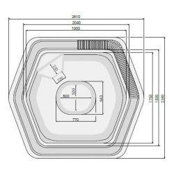 CLASSIC 260 x 234cm mit Überlaufrinne_8339