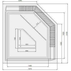 JANETTE 175 x 215 cm mit Überlaufrinne_8348