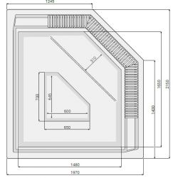 JANETTE 197 x 215 cm mit Überlaufrinne_8348