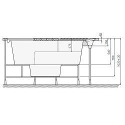 JANETTE 197 x 215 cm mit Überlaufrinne_8349