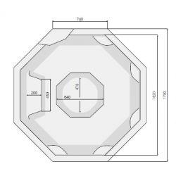 OCTAVIA 179 x 179 cm mit Skimmer-Filter_8357