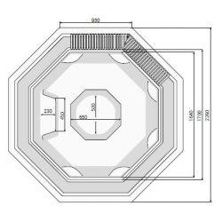 OCTAVIA 226 x 226cm mit Überlaufrinne_8363