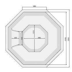 VESTA 230 x 230 cm mit Skimmer-Filter_8388
