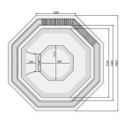 VESTA 290 x 290 cm mit Überlaufrinne_8391